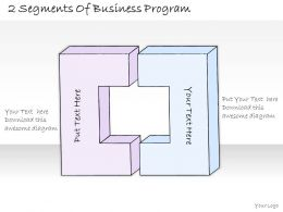1814 Business Ppt Diagram 2 Segments Of Business Program Powerpoint Template