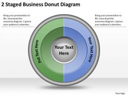 1814 Business Ppt Diagram 2 Staged Business Donut Diagram Powerpoint Template