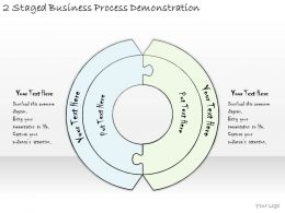 1814 Business Ppt Diagram 2 Staged Business Process Demonstration Powerpoint Template