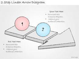 1814_business_ppt_diagram_2_step_linear_arrow_diagram_powerpoint_template_Slide01