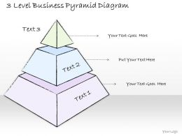 1814 Business Ppt Diagram 3 Level Business Pyramid Diagram Powerpoint Template