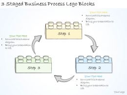 1814 Business Ppt Diagram 3 Staged Business Process Lego Blocks Powerpoint Template