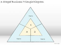 1814 Business Ppt Diagram 3 Staged Business Triangle Diagram Powerpoint Template