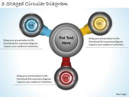 1814 Business Ppt Diagram 3 Staged Circular Diagram Powerpoint Template