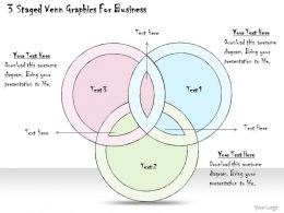 1814 Business Ppt Diagram 3 Staged Venn Graphics For Business Powerpoint Template