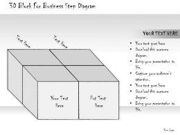 1814_business_ppt_diagram_3d_block_for_business_step_diagram_powerpoint_template_Slide01