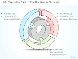 1814 Business Ppt Diagram 3d Circular Chart For Business Process Powerpoint Template