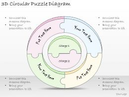 1814 Business Ppt Diagram 3d Circular Puzzle Diagram Powerpoint Template