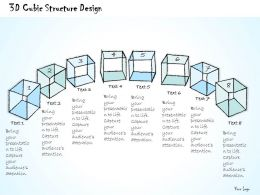 1814 Business Ppt Diagram 3D Cubic Structure Design Powerpoint Template