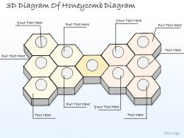 1814 Business Ppt Diagram 3d Diagram Of Honeycomb Diagram Powerpoint Template