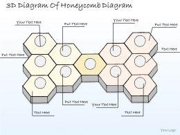 1814 Business Ppt Diagram 3d Diagram Of Honeycomb Diagram Powerpoint Template