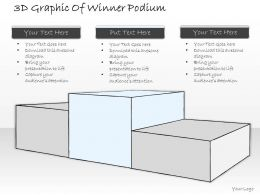 1814 Business Ppt Diagram 3d Graphic Of Winner Podium Powerpoint Template