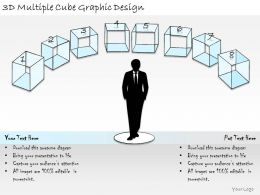 1814 Business Ppt Diagram 3d Multiple Cube Graphic Design Powerpoint Template