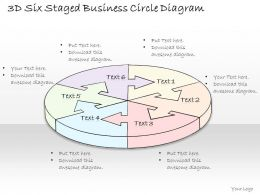 1814 Business Ppt Diagram 3d Six Staged Business Circle Diagram Powerpoint Template