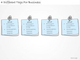 1814 Business Ppt Diagram 4 Different Tags For Business Powerpoint Template