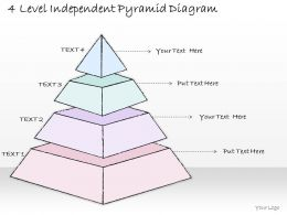 1814 Business Ppt Diagram 4 Level Independent Pyramid Diagram Powerpoint Template