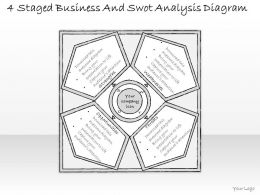 1814 Business Ppt Diagram 4 Staged Business And Swot Analysis Diagram Powerpoint Template