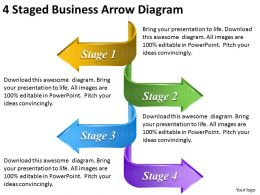 1814 Business Ppt Diagram 4 Staged Business Arrow Diagram Powerpoint Template