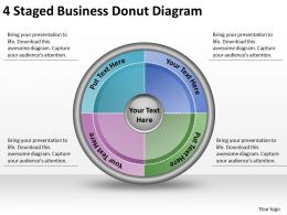 1814 Business Ppt Diagram 4 Staged Business Donut Diagram Powerpoint Template