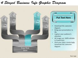 1814 Business Ppt Diagram 4 Staged Business Infographic Diagram Powerpoint Template