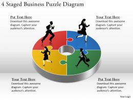 1814 Business Ppt Diagram 4 Staged Business Puzzle Diagram Powerpoint Template