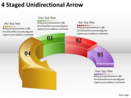 1814_business_ppt_diagram_4_staged_unidirectional_arrow_powerpoint_template_Slide01