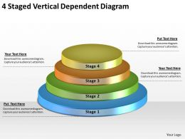 1814 Business Ppt Diagram 4 Staged Vertical Dependent Diagram Powerpoint Template