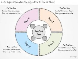 1814 Business Ppt Diagram 4 Stages Circular Design For Process Flow Powerpoint Template