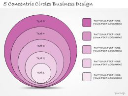 1814 Business Ppt Diagram 5 Concentric Circles Business Design Powerpoint Template