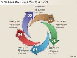1814 Business Ppt Diagram 5 Staged Business Circle Arrows Powerpoint Template
