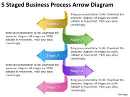 1814 Business Ppt Diagram 5 Staged Business Process Arrow Diagram Powerpoint Template