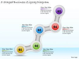 1814 Business Ppt Diagram 5 Staged Business Zigzag Diagram Powerpoint Template