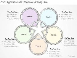 1814 Business Ppt Diagram 5 Staged Circular Business Diagram Powerpoint Template