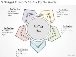 1814 Business Ppt Diagram 5 Staged Flower Diagram For Business Powerpoint Template