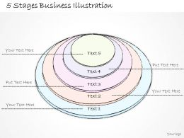 1814 Business Ppt Diagram 5 Stages Business Illustration Powerpoint Template