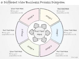 1814 Business Ppt Diagram 6 Different View Business Process Diagram Powerpoint Template