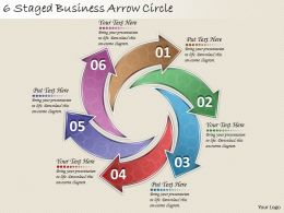1814 Business Ppt Diagram 6 Staged Business Arrow Circle Powerpoint Template