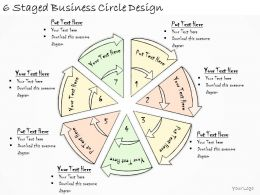 1814 Business Ppt Diagram 6 Staged Business Circle Design Powerpoint Template
