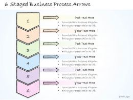 1814 Business Ppt Diagram 6 Staged Business Process Arrows Powerpoint Template