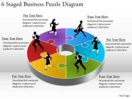 1814 Business Ppt Diagram 6 Staged Business Puzzle Diagram Powerpoint Template