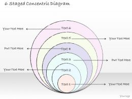 1814 Business Ppt Diagram 6 Staged Concentric Diagram Powerpoint Template