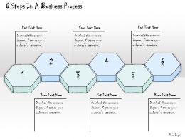1814 Business Ppt Diagram 6 Steps In A Business Process Powerpoint Template