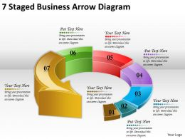 1814 Business Ppt Diagram 7 Staged Business Arrow Diagram Powerpoint Template