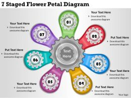 1814 Business Ppt Diagram 7 Staged Flower Petal Diagram Powerpoint Template