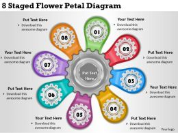 1814 Business Ppt Diagram 8 Staged Flower Petal Diagram Powerpoint Template