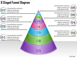 1814 Business Ppt Diagram 8 Staged Funnel Diagram Powerpoint Template