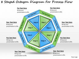 1814 Business Ppt Diagram 8 Staged Octagon Diagram For Process Flow Powerpoint Template