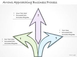 1814 Business Ppt Diagram Arrows Approaching Business Process Powerpoint Template