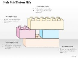 1814 Business Ppt Diagram Bricks Build Business Skills Powerpoint Template