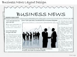 1814 Business Ppt Diagram Business News Layout Design Powerpoint Template
